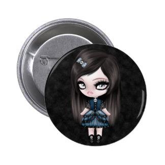 Gorgeous Goth Gothic Girly Doll 2 Inch Round Button