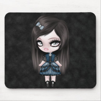 Gorgeous Goth Gothic Girly Doll Mouse Pad