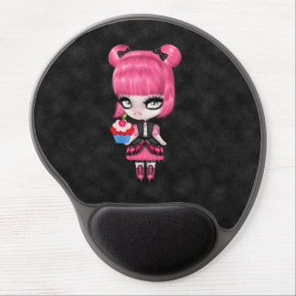Gorgeous Goth Gothic Girly Doll w/Pink Hair Gel Mouse Pad