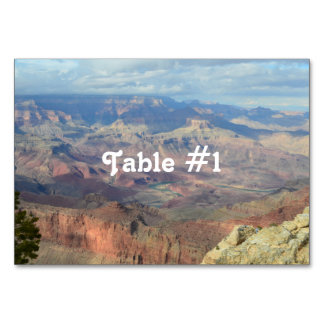 Gorgeous Grand Canyon Table Card