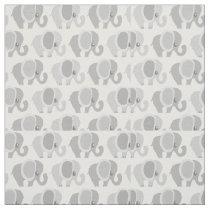 Gorgeous Gray Elephant Pattern Fabric