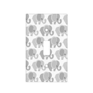 Gorgeous Gray Elephant Pattern Light Switch Cover