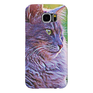 Gorgeous Gray Long Haired Cat Samsung Galaxy S6 Case