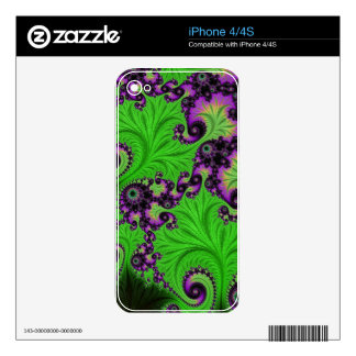 Gorgeous Green Amethyst Fractal Decal For The iPhone 4S