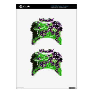 Gorgeous Green Amethyst Fractal Xbox 360 Controller Decal