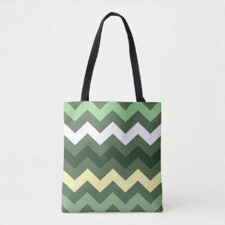 Gorgeous Green Chevron Tote Bag