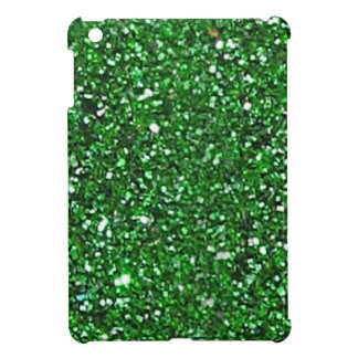 Gorgeous Green Glitter Mini iPad Case - Xmas