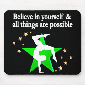 GORGEOUS GREEN GYMNASTICS DESIGN MOUSE PAD
