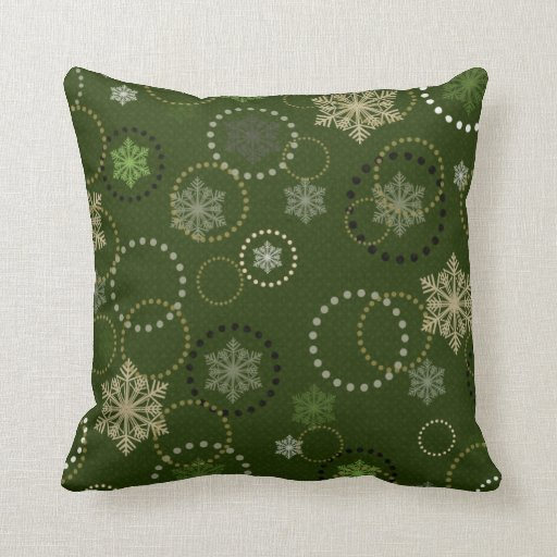 Gorgeous Green Holiday Pillows