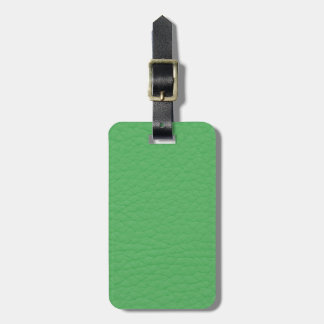 Gorgeous Green Leather Texture Bag Tag