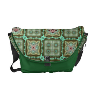 Gorgeous Green Quilt Style Abstract Messenger bag