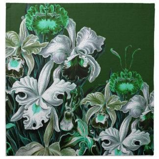 Gorgeous Green Vintage Flowers Napkin
