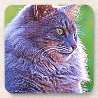 Gorgeous Grey Cat Drink Coaster