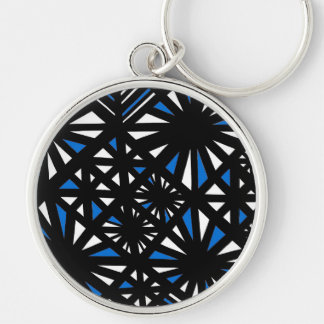 Gorgeous Hearty Now Poised Silver-Colored Round Keychain