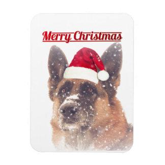 Gorgeous Holiday German Shepherd Magnet