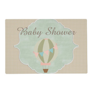 Gorgeous Hot Air Balloon Neutral Baby Shower Placemat