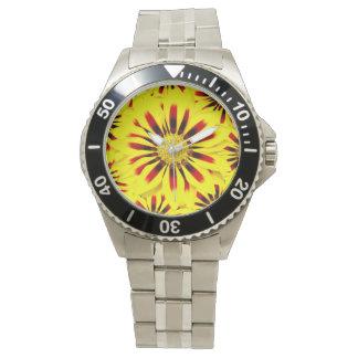 Gorgeous Huge Yellow Red Gerbera Daisy Watch