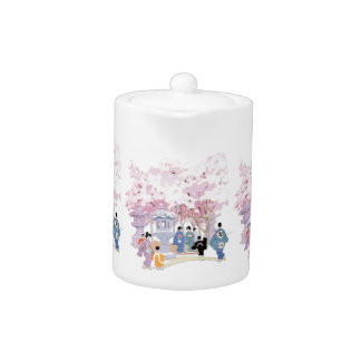 Gorgeous Japanese Cherry Blossom Home Decor Teapot