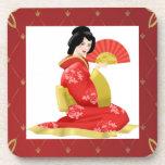 Gorgeous Japanese Woman Coaster