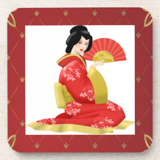 Gorgeous Japanese Woman Drink Coaster