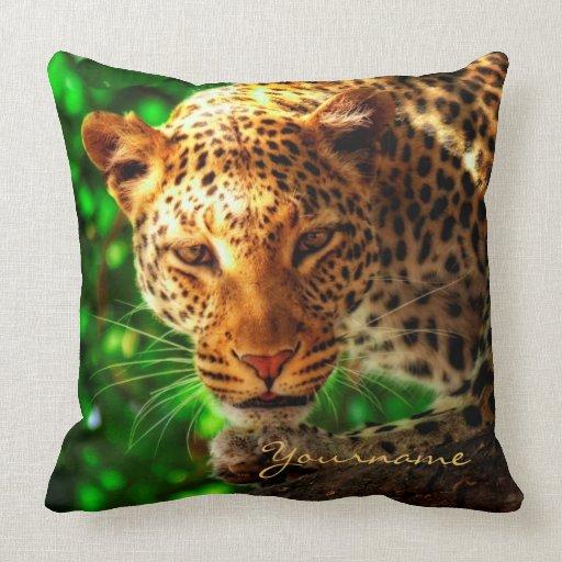 Gorgeous Leopard Big Cat Portrait Wild Animal Face Pillow Zazzle