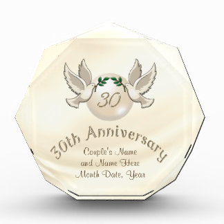 Gorgeous Love Doves, Pearl 30th Anniversary Gifts