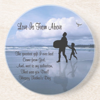 Gorgeous Love is From Above – Father & Child Sandstone Coaster
