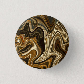 Gorgeous Marble Style - Warm brown Button