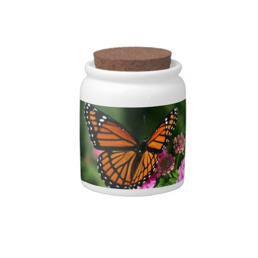 Gorgeous Monarch Butterfly Design Candy Dish