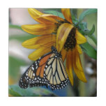 "Gorgeous Monarch Butterfly on Sunflower Ceramic Tile<br><div class=""desc"">Gorgeous Monarch Butterfly on Sunflower</div>"