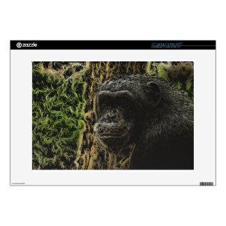"""Gorgeous Monkey Art 15"""" Laptop Decal"""