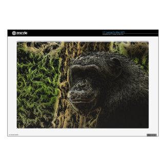 "Gorgeous Monkey Art 17"" Laptop Skins"