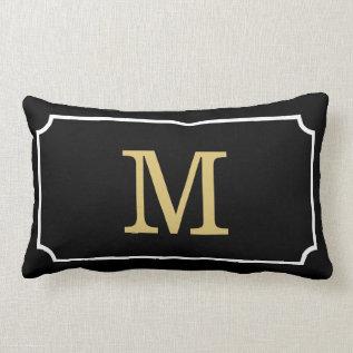 Gorgeous Monogram Geom Pattern Lumbar Throw Pillow at Zazzle