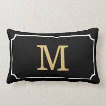 Gorgeous Monogram Geom Pattern Lumbar Throw Pillow
