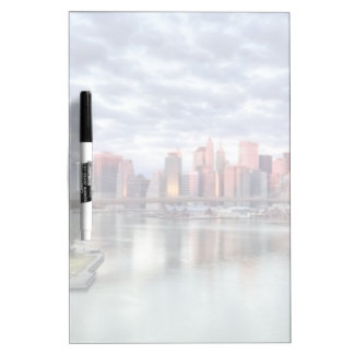 Gorgeous morning view and city reflections dry erase whiteboards