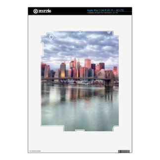 Gorgeous morning view and city reflections iPad 3 skin