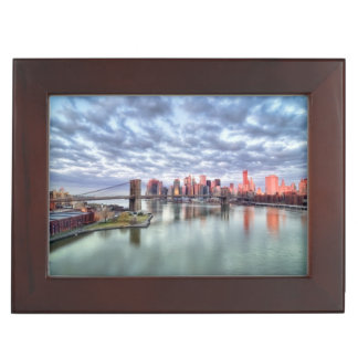 Gorgeous morning view and city reflections memory box