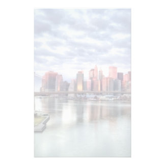 Gorgeous morning view and city reflections stationery
