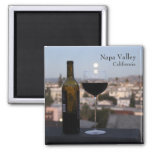 Gorgeous Napa Valley Magnet! 2 Inch Square Magnet