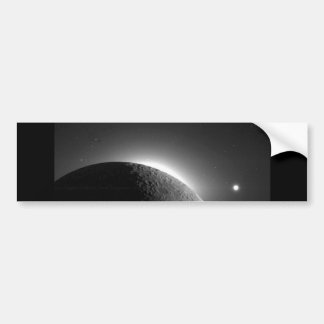 Gorgeous NASA image, the Moon lit by Earth-shine Car Bumper Sticker