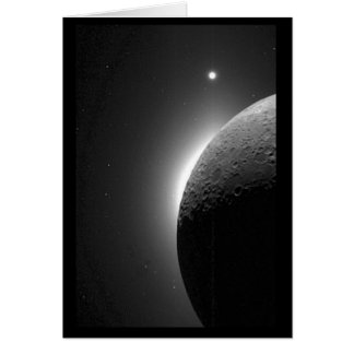Gorgeous NASA image, the Moon lit by Earth-shine Greeting Card