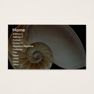 Nautilus shell business cards templates zazzle gorgeous nautilus shell business card colourmoves