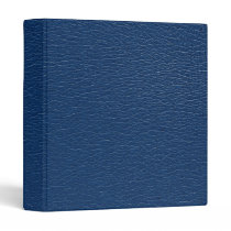 Gorgeous Navy Blue Leather Texture 3 Ring Binder