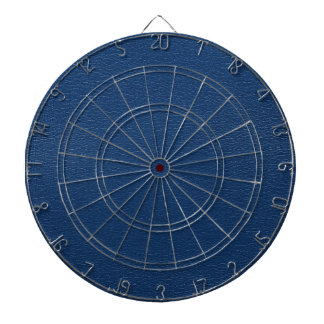 Gorgeous Navy Blue Leather Texture Dartboard With Darts