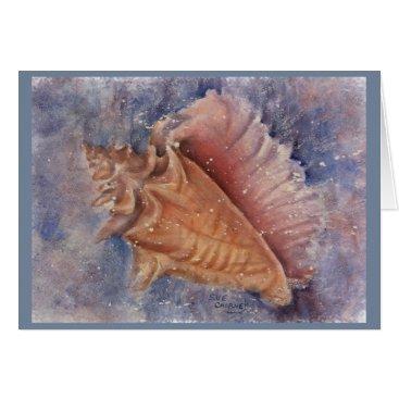 GORGEOUS OCEAN CONCH SHELL CARD