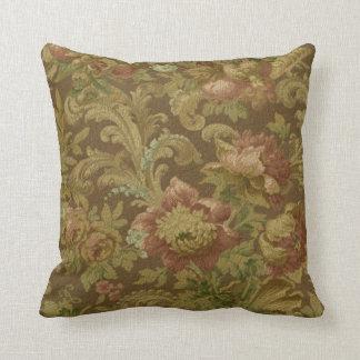 Gorgeous Old World Antique Floral Faux Texture Pillow