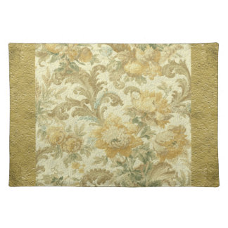 Gorgeous Old World Antique Floral Faux Texture Placemat