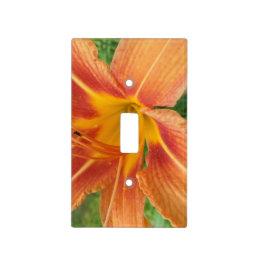 Gorgeous Orange Flower Light Switch