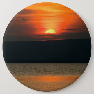 Gorgeous Orange Sunset At Neusiedlersee Pinback Button