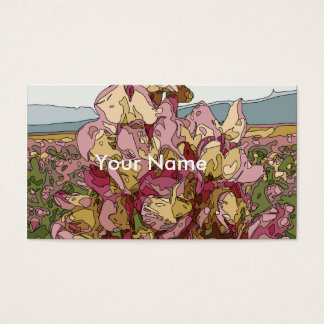 Gorgeous Orchid Flowers in Spring Business Card